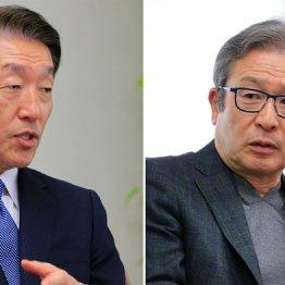 商工中金社長の関根正裕氏と作家の江上剛氏