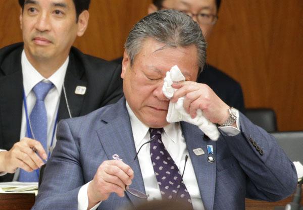 サイバーセキュリティー担当の桜田義孝大臣(C)日刊ゲンダイ