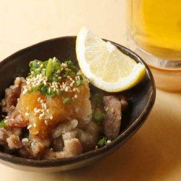 【砂肝ポン酢】コリコリの食感がたまらない