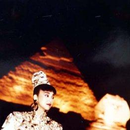 スフィンクスの前で熱唱 岩崎宏美さんのとっておきの1枚