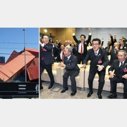 大ハシャギだったが台風21号で夢洲はグチャグチャに(左=共産党・辰巳孝太郎参議院議員事務所提供)/(C)共同通信社