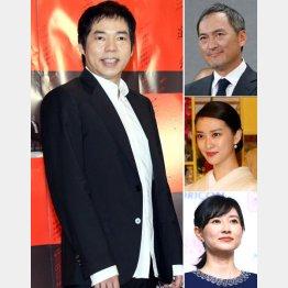 左から時計回りで今田耕司、渡辺謙、武井咲、菊川怜(C)日刊ゲンダイ