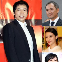 左から時計回りで今田耕司、渡辺謙、武井咲、菊川怜