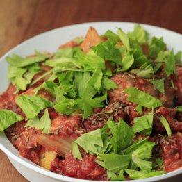 【サバの味噌煮缶とトマトの煮込み】酸味の多重奏こそ美味しさの秘訣