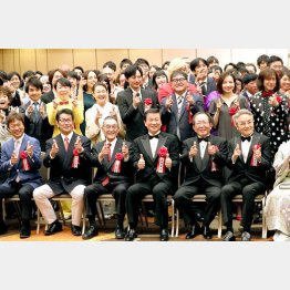 サンミュージックグループ創立50周年記念式典(C)日刊ゲンダイ
