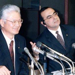 塙元社長(左)と(00年3月)