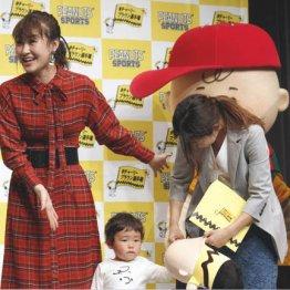 イベントで子供と触れ合った村上佳菜子
