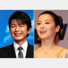 及川光博(左)と壇れい(C)日刊ゲンダイ