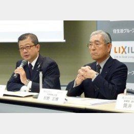 創業家出身の塩田氏(左)/(C)共同通信社