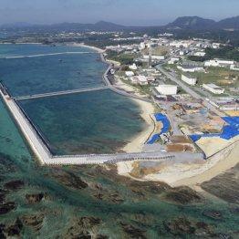 普天間飛行場移設先の沖縄県名護市辺野古の沿岸部