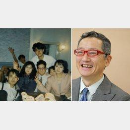 ブックライターの上阪徹さん(左は異業種の人たちとの飲み会で)/(提供写真)