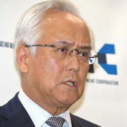 10日、辞任会見をする産業革新投資機構(JIC)の田中社長