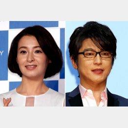 離婚した檀れい(左)と及川光博(C)日刊ゲンダイ