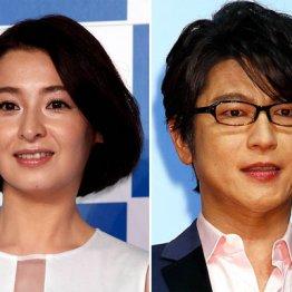 離婚した檀れい(左)と及川光博