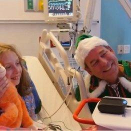 """入院中の子供のために…""""北極""""のサンタと話せるサービスが"""