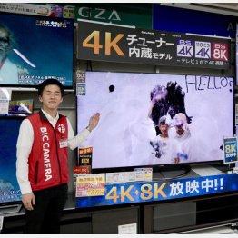 ビックカメラ池袋本店ビジュアルコーナーの萩原隆史氏(C)日刊ゲンダイ