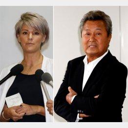 梅宮辰夫(右)とアンナ(C)日刊ゲンダイ