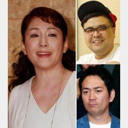 左から時計回りで、松坂慶子、とろサーモン・久保田、スーパーマラドーナ・武智(C)日刊ゲンダイ