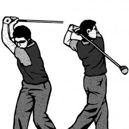 ドライバーは2本の軸だとイメージしたほうが体はよく回る