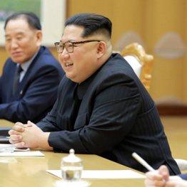 米朝首脳会談にも金英哲副委員長(奥)が同行