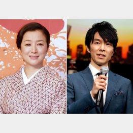 鈴木京香(左)と長谷川博己(C)日刊ゲンダイ