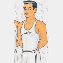 内藤ルネさんが描いたフレディ・マーキュリー(提供写真)