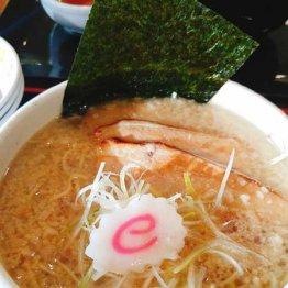 背脂醤油麺780円