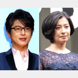 及川光博(左)と檀れい(C)日刊ゲンダイ