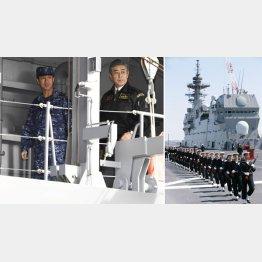 「いずも」は空母化(同艦の視察に訪れた岩屋防衛相=左)/(C)共同通信社