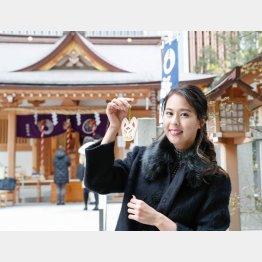 元ミス・ユニバース日本代表のの阿部桃子さん(C)日刊ゲンダイ