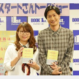 山崎ケイ(左)と山添寛(C)日刊ゲンダイ