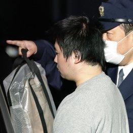 送検される日下部和博容疑者