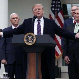 4日、ホワイトハウスで発言するトランプ大統領