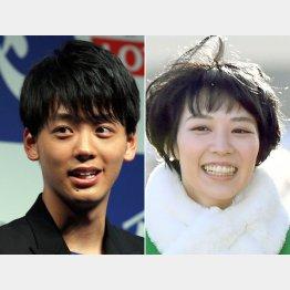 竹内涼真(左)と吉谷彩子(C)日刊ゲンダイ