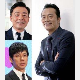 (右から時計回りで)遠藤憲一、西島秀俊、光石研(C)日刊ゲンダイ