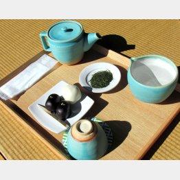 菓子付きお茶セット(提供写真)