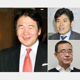 利権のあるところにこの人の影(右は、上から東大大学院の柳川範之教授、慶応大大学院の竹森俊平教授)/(C)共同通信社