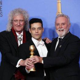 ゴールデン・グローブ賞受賞(左からブライアン・メイ、主演のラミ・マレック、ロジャー・テイラー)