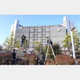 ゴーン容疑者が勾留されている東京拘置所(C)日刊ゲンダイ