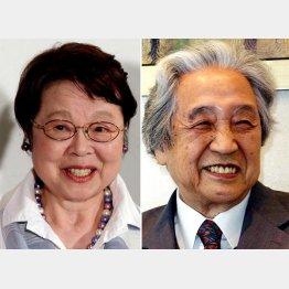 12日に亡くなった女優の市原悦子さん(左)と哲学者の梅原猛さん(C)日刊ゲンダイ