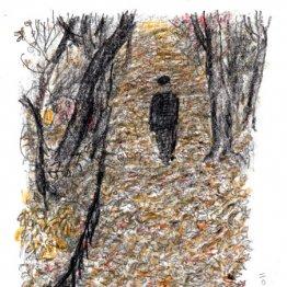 白髪を逆立てたような霜柱が長く伸びて光る「武蔵野の冬」