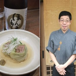 割烹 竹之内(野田阪神)出汁で食べる猪肉と松波キャベツ