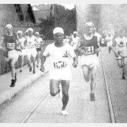 1924年パリ五輪の男子マラソンで力走する金栗四三(C)共同通信社