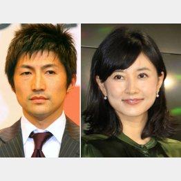 穐田誉輝氏(左)と菊川怜(C)日刊ゲンダイ
