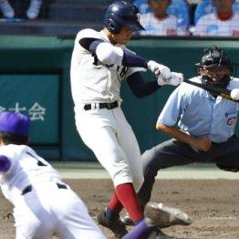 大阪桐蔭の根尾が放った本塁打のインパクトの瞬間