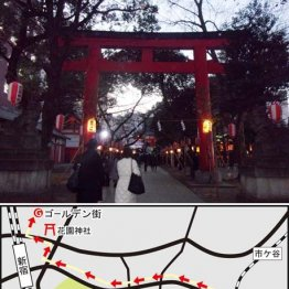 江戸時代から芝居の興行が行われていた(花園神社)