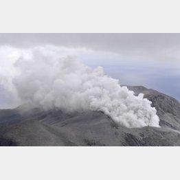 噴煙は6000メートル(17日の口永良部島の噴火)/(C)共同通信社
