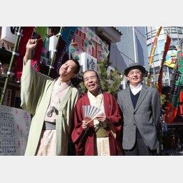 (左から)木久蔵、木久扇、吉川潮(C)日刊ゲンダイ