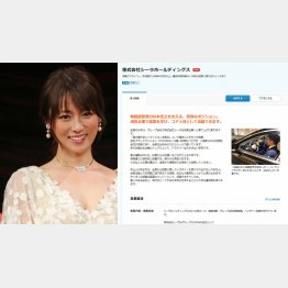 深田恭子(右は、シーラホールディングスの募集要項=転職会社採用ホームページから)/(C)日刊ゲンダイ