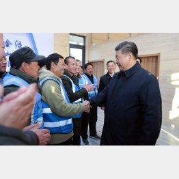 河北省雄安新区を視察で訪れた習近平国家主席(C)新華社/共同通信イメージズ